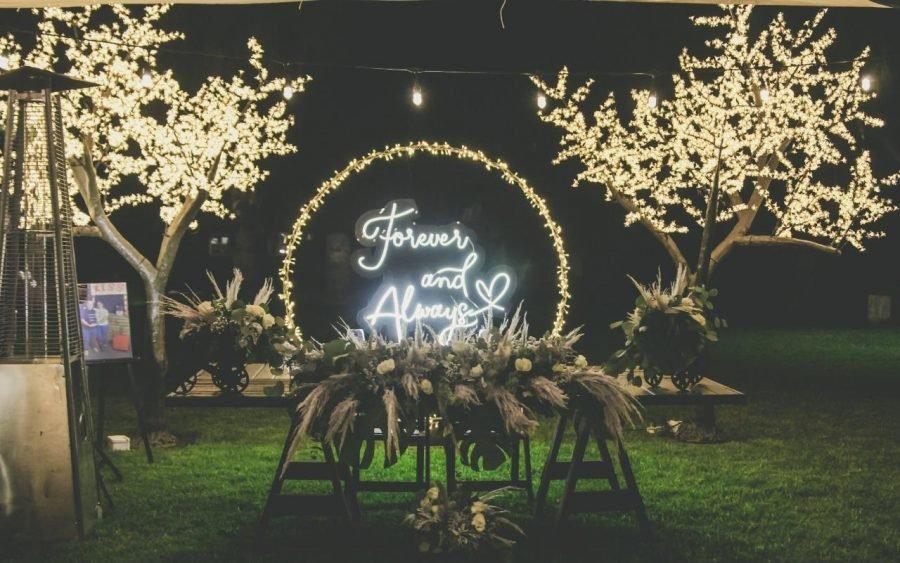a rboles decorativos y letreros neon para eventos 33