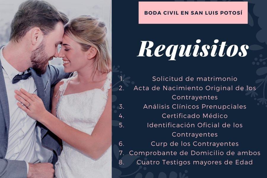 Requisitos para Boda Civil en San Luis Potosí